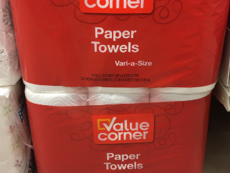 Value Corner Deals – Pay $2.50 for Bath Tissue and $3.00 for Paper Towels