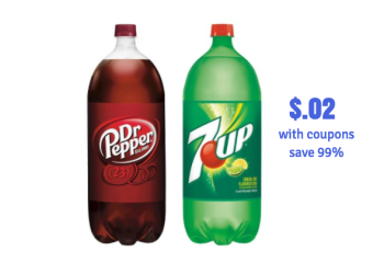 7-Up and Dr. Pepper Coupon Stack – Pay Just $.02 for 2 Liters