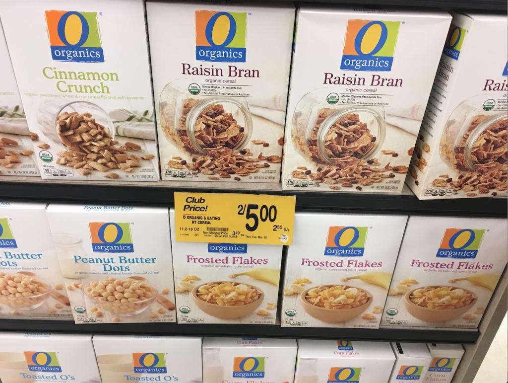 o organics cereal