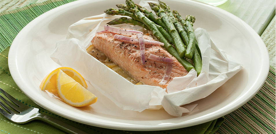 salmon baked in parchment