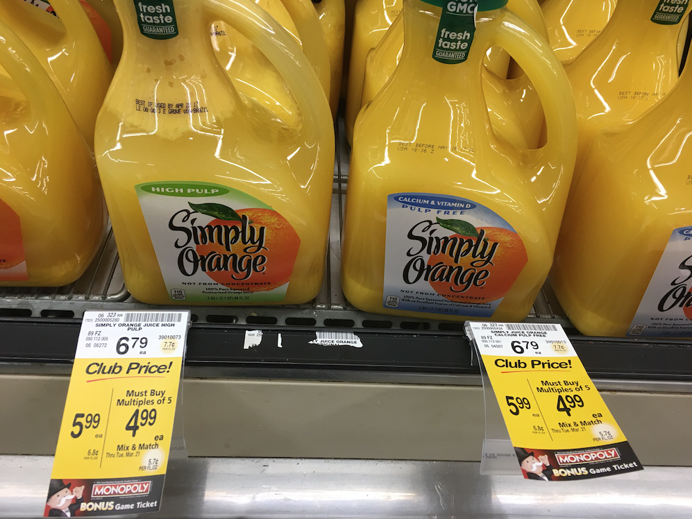 simply orange juice coupon