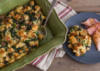 Sausage, Spinach & Cheese Egg Casserole