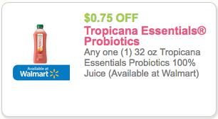 tropicana essentials probiotics coupon