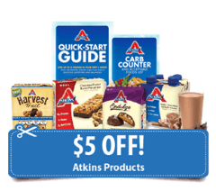 Atkins Coupon, Pay as Low as $1.49 for Harvest Trail Bars