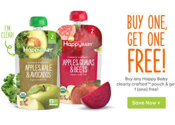 HappyBaby Coupon, Pay as Low as $0.68 for Organic Baby Food