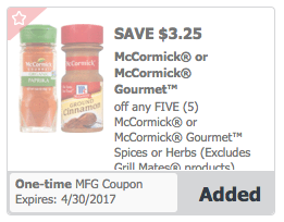 The best deals on McCormick spices, extracts and herbs are found at Target, Walmart and grocery stores. Look to pair manufacturer coupons, ranging from $
