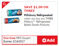 Save 67% on Pillsbury Cookie Dough, Pay as Low as $1.00