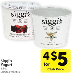 Siggi's Yogurt Coupon