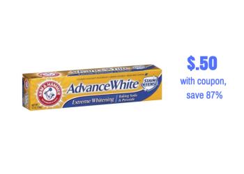 Arm & Hammer Toothpaste Just $.50