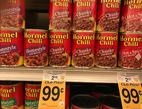 hormel chili on sale