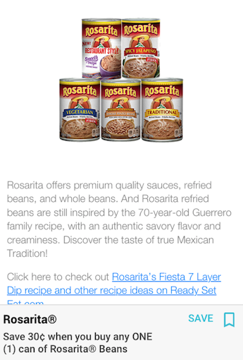 rosarita refried beans coupon