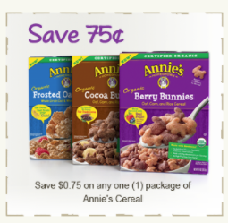 Annie's Cereal Coupon