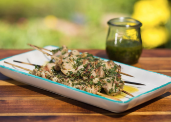 Grilled Chimichurri Chicken Satay