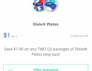 Dixie Products on Sale, Pay $2.00 for Plates and $2.50 for Bowls