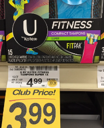 U by Kotex Coupons, Pay as Low as $1.99