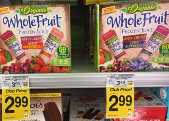 Whole Fruit Organic Juice Tubes For $1.99