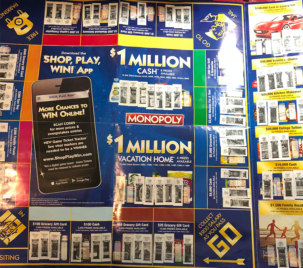 Last Day to Redeem Safeway Monopoly Tickets and Turn in