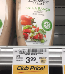 Bolthouse Farms Salad Dressing Deal, Pay $0.50 – Save Up To 87%