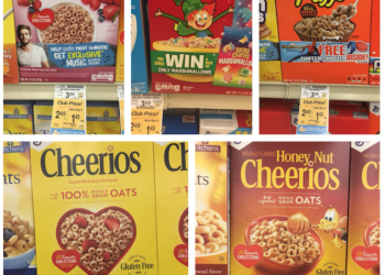 Cheerios and Other General Mills Cereals Just $.49 With Sale and Coupon, Save 87%