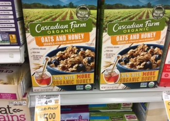 Save 55% on Cascadian Farm Organic Cereal and Granola Bars