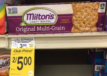 Milton Crackers Coupon, Pay $1.50 – Save 62%