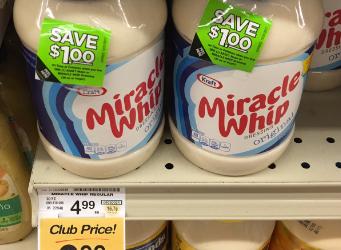 Kraft Miracle Whip Coupon, Pay $2.49