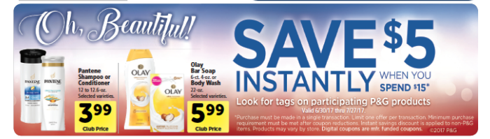 P&G Promo - Save $5 When you Spend $15