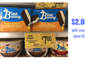 Save up to 75% on Blue Bunny Ice Cream and Novelties