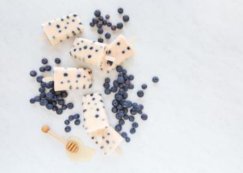 Homemade Blueberry Peach Popsicles