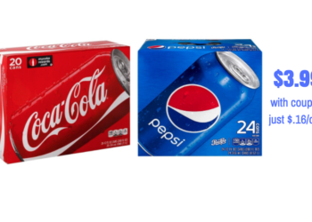 HOT Pepsi Sale and Coke Sale at Safeway!  Pay as low as $.16 per can – STOCK UP PRICE