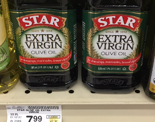 Star Olive Oil Coupon, Pay $3.99 – Save 50%