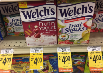 $1.00 for Welch's Fruit Snacks