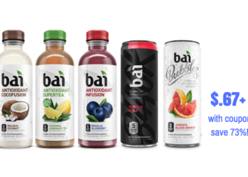 Bai Black and Bai Bubbles Just $.67 Each With Coupon, Save 73%