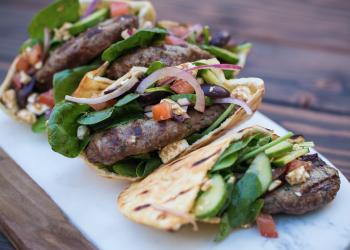 Grilled Greek Pita Burger