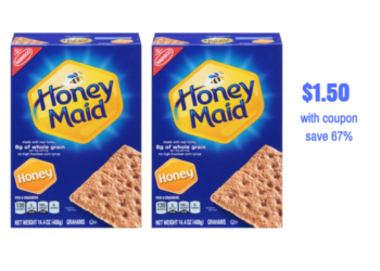 Stock up on Honey Maid Graham Crackers for S'Mores – Just $1.50 per Box