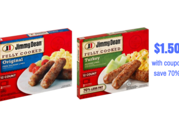 Jimmy Dean Fully Cooked Sausage Just $1.50 With Coupon, Save 70% – Last Day