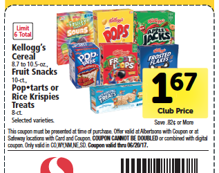 Kellogg's Cereals as Low as $.87 a Box With Coupons