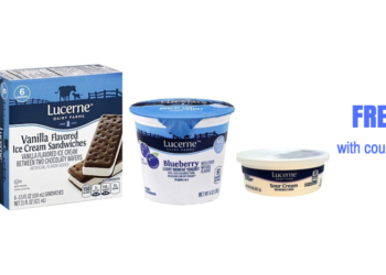 New Lucerne Coupons – $.75 Milk, Free Sour Cream, Free Yogurt, Free Ice Cream Bars and Free Cream Cheese