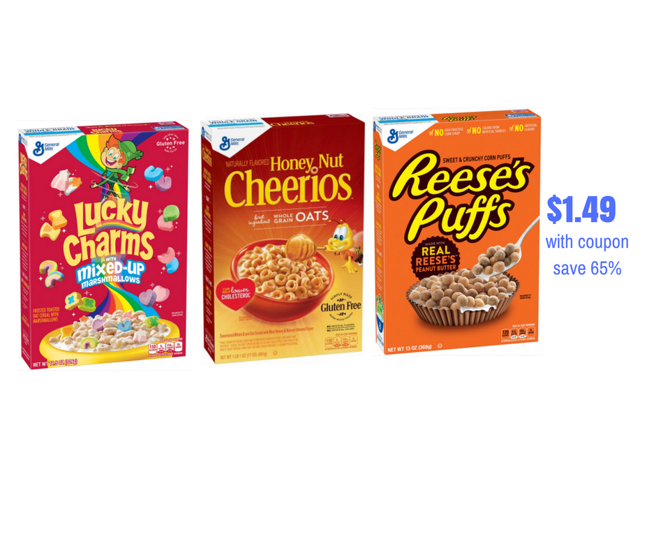 General Mills Cereals Just $1.49 With Coupon Stack