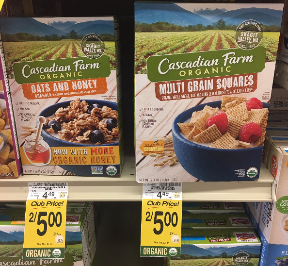 Cascadian Farm Cereal Coupon