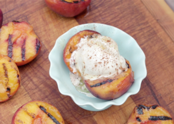Grilled Peach Sundaes Recipe