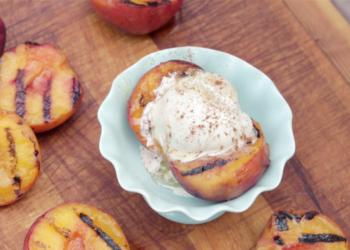 Grilled Peach Sundaes Recipe