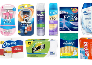 New P&G Coupons – Save $40 on Bounce, Charmin, Gillette, Venus, Bounty and More!