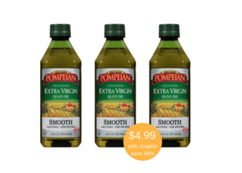 Pompeian Olive Oil Coupon – Get Extra Virgin Olive Oil for Just $4.99 – Save 56%