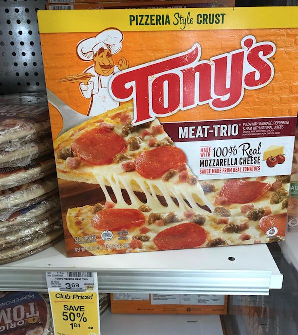 50% off frozen pizza sale