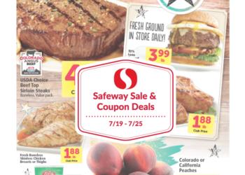 Safeway Sale and Coupon Deals 7/19 – 7/25