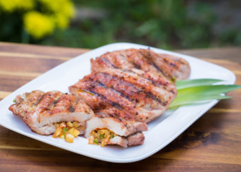 Grilled Smoky Pineapple Pork Chops