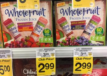 Organic Whole Fruit Juice Tubes for $1.99