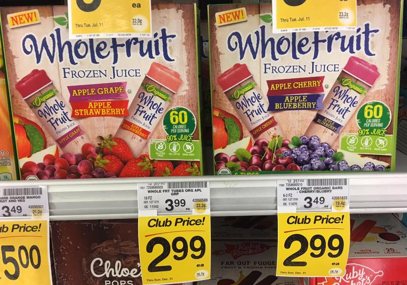 Whole Fruit Juice Tubes