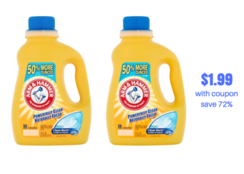 Arm & Hammer Detergent Just $1.99 With Coupon, Save 72%